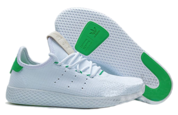 Фото Adidas x Pharrell Williams Tennis Hu Белые - 1